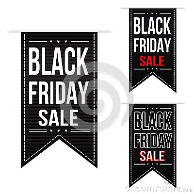 Free Black Friday Sale Banner Design Set Stock Photo - 42849850
