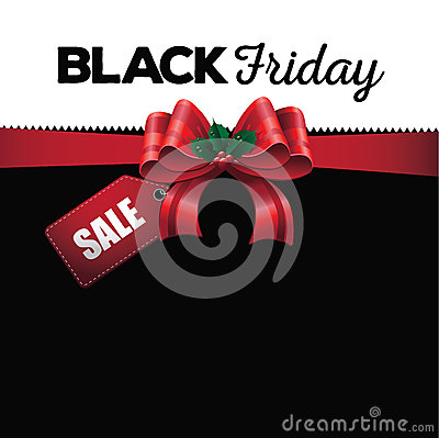 Free Black Friday Sale Ribbon Background Stock Image - 45320091