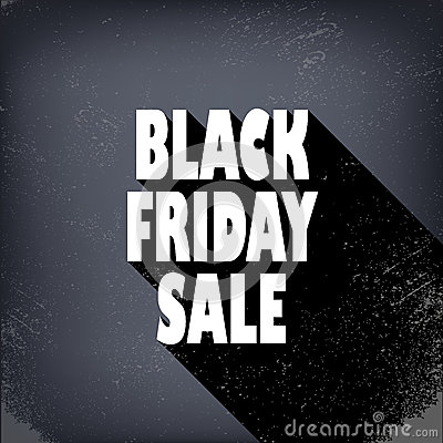 black friday sales poster in vintage style with stock vector image 46694004