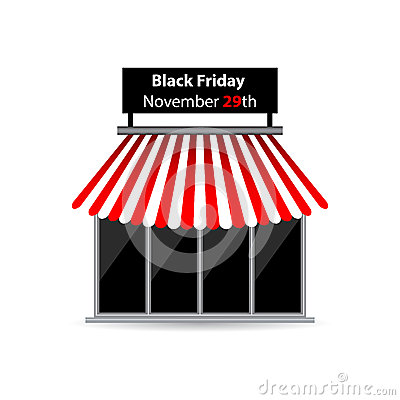 Black friday shop icon