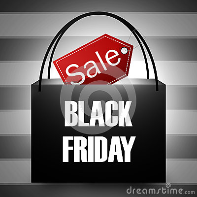 Free Black Friday Shopping Bag Royalty Free Stock Photos - 39811628