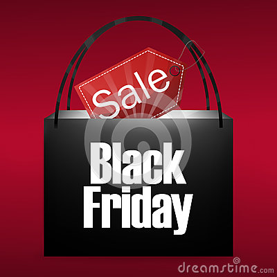Free Black Friday Shopping Bag Royalty Free Stock Image - 40131216