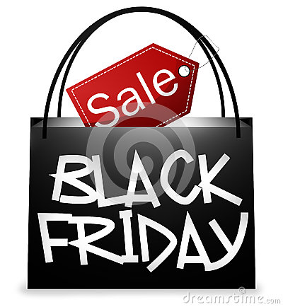 Free Black Friday Shopping Bag Stock Photo - 40243710