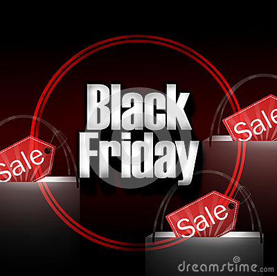 Free Black Friday Shopping Bag Stock Photos - 40246633