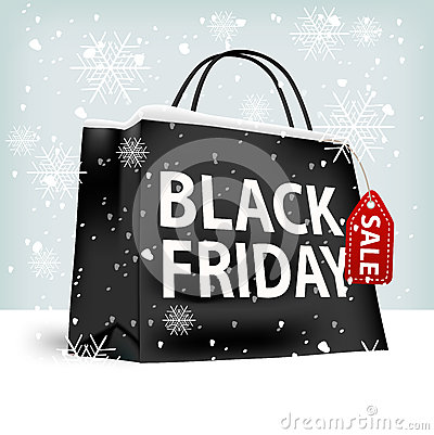 Free Black Friday Shopping Bag Stock Photo - 61231000