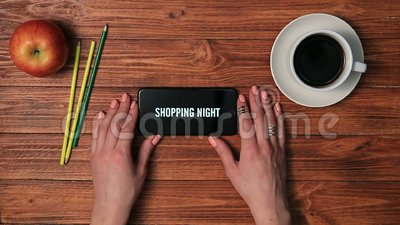 Black friday and special offers text on phone stock video footage