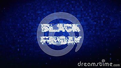 Black Friday Text Digital Noise Twitch Glitch Distortion Effect Error  Animation