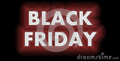Black Friday sign in white glossy Stock Photo