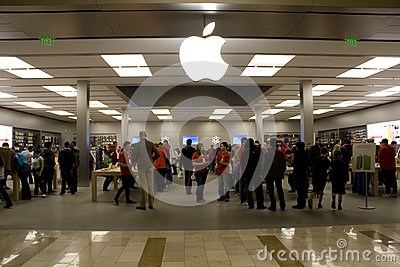 Black Friday white Apple store Editorial Image