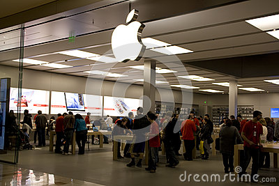 Black Friday white Apple store Editorial Stock Photo