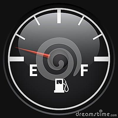 Black fuel gage