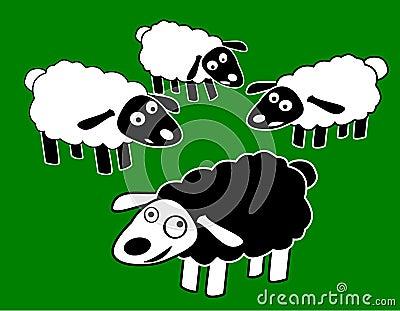 Black Fun Sheep Character