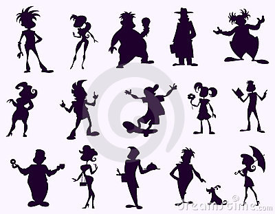 Black funny silhouettes