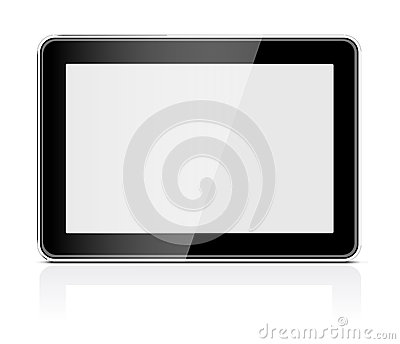 Black generic tablet pc