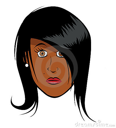Black girl face