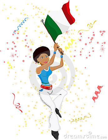 Black Girl Italy Soccer Fan