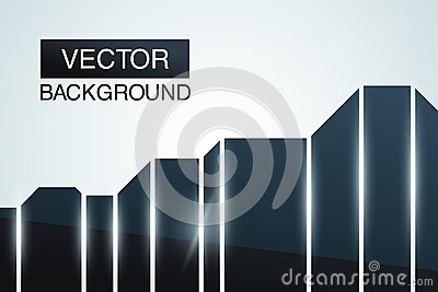 Black glossy abstract background. Futuristic