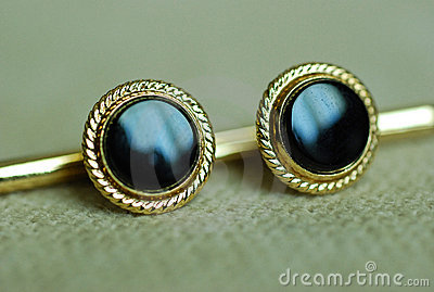 Black and gold cufflinks for formal wear