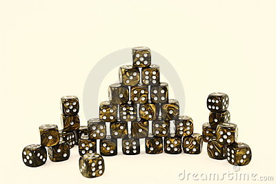 Black And Gold Dice