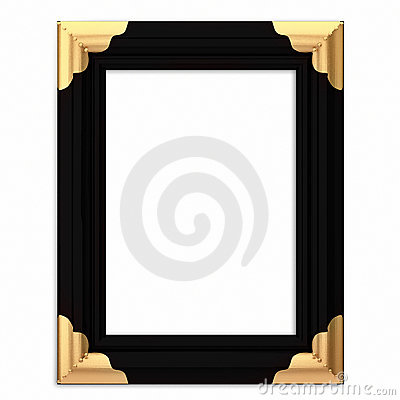 Black and Gold Framed Picture Frame w/ Path