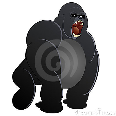 Black gorilla illustration