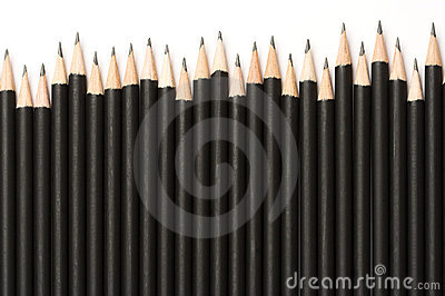 Black graphite pencils