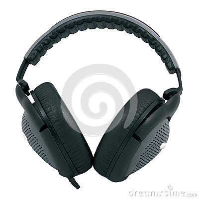 Black and gray headphones