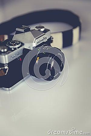 Black And Gray Minolta Dslr Camera Free Public Domain Cc0 Image