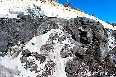 Black Gray Sand Rock Contrasts