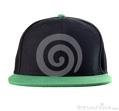 Black and green cap