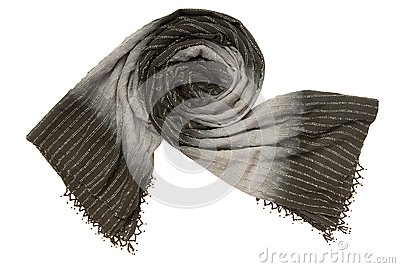 A black and grey scarf