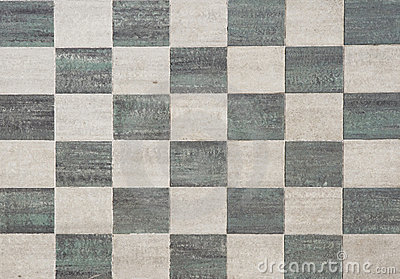 Black and grey square tiles