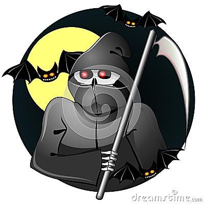 Black grim reaper