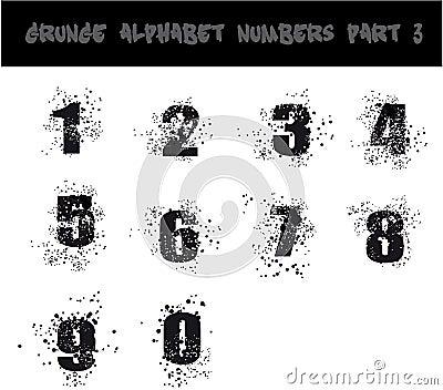 Black Grunge Alphabet