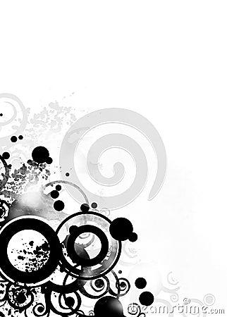 Free Black Grunge Design Stock Photography - 1240972