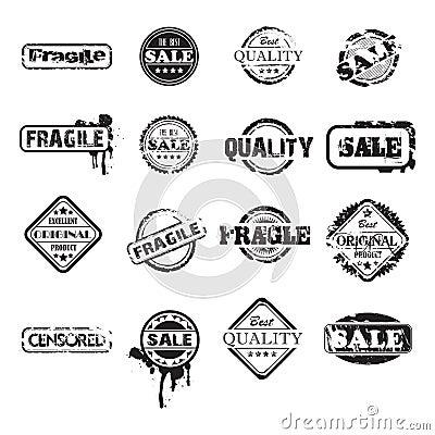 Free Black Grunge Stamps Stock Images - 10576494