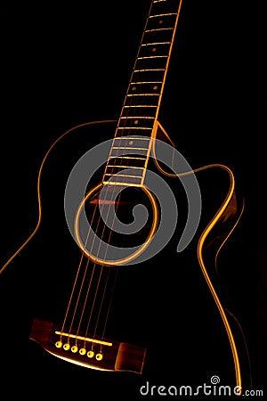 Free Black Guitar Royalty Free Stock Photo - 16287205