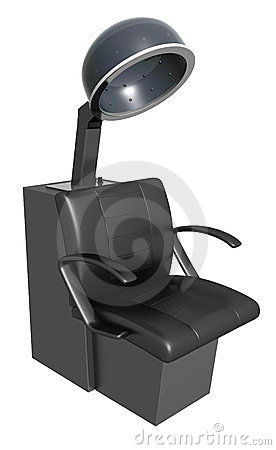 Black hair dryer armchair
