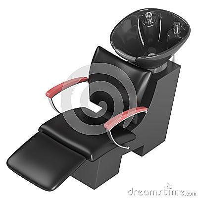 Black hair wash chair