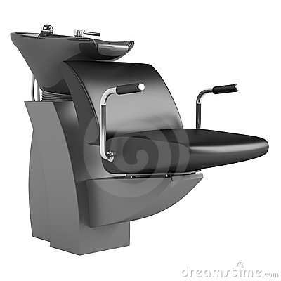 Black hair wash chair