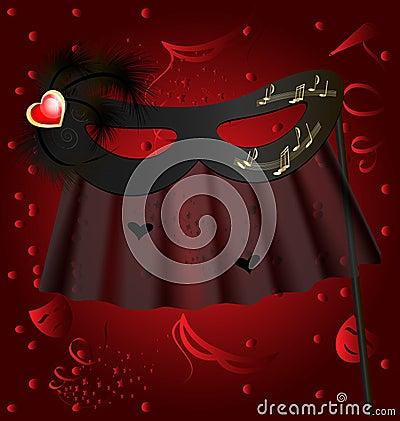 Black half mask