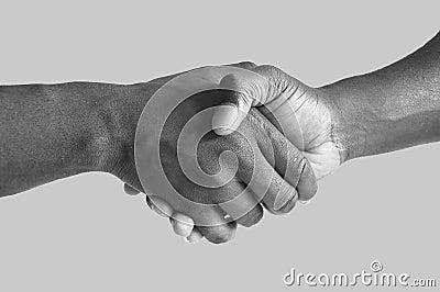 Black Handshake grayscale