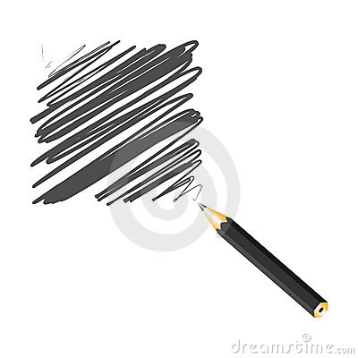 Black handwritten square