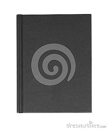 Black hardback casebound book