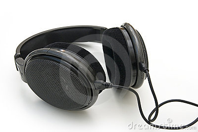 Black headphones