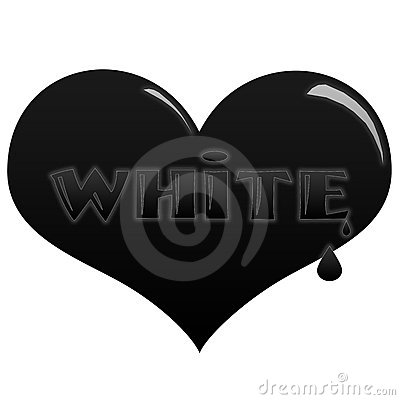 Black heart, white soul