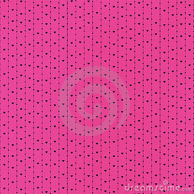 Black Hearts and Dots in Pink