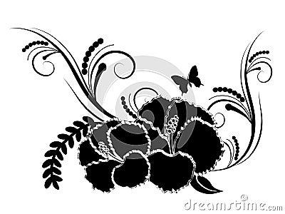 Black hibiscus flower