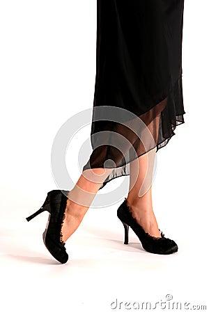 Black High Heel Shoes