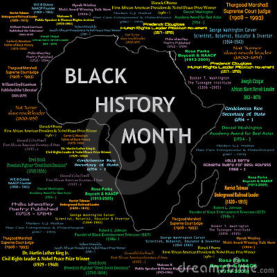Free Black History Month Collage Stock Photography - 12793772
